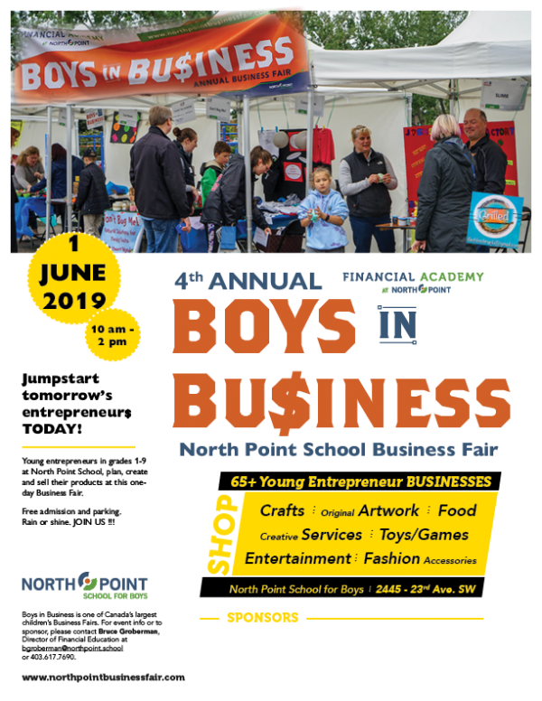4th Annual Boys in Business Fair